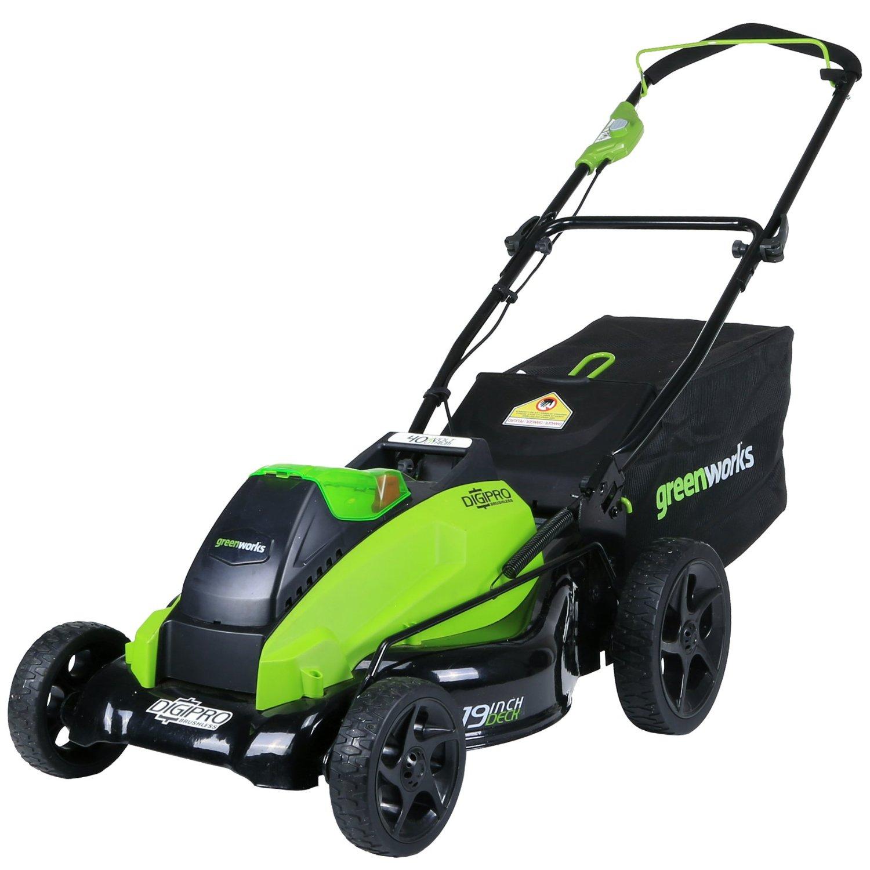 GreenWorks 2501302 G-MAX 40V 19-Inch Cordless Lawn Mower