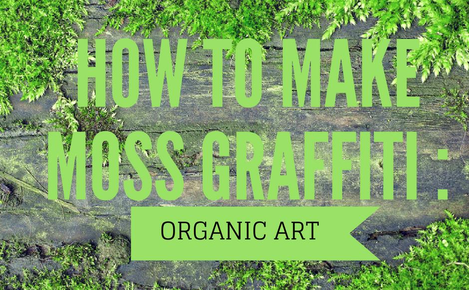 How To Make Moss Graffiti: Organic Art