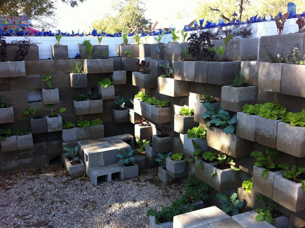 best cinder block garden ideas