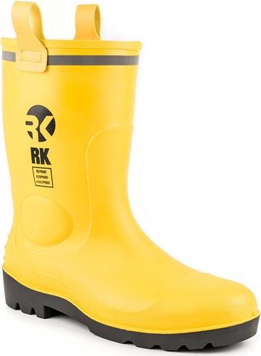 RK Mens Waterproof Rubber Sole Rain Boots