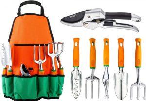 Garden Tool Set, UKOKE 7 Piece Aluminum Hand Tool Kit
