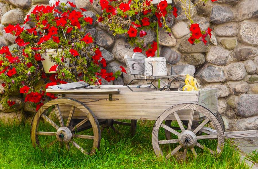 Miniature Red Wagon Planter