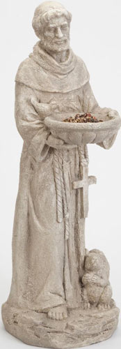 Bits and Pieces Garden Décor-Durable Polyresin St. Francis