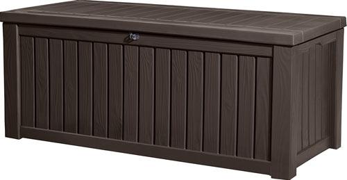 Keter Rockwood Plastic Deck Storage Container Box Outdoor