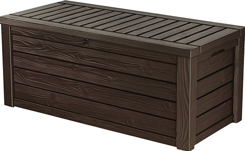 Keter Westwood Plastic Deck Storage Container Box Outdoor