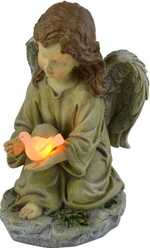 Moonrays 91338 Solar Powered Angel with Glowing