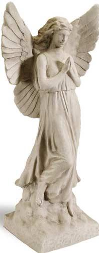 Sculptural Gardens 23-Inch Guardian Angel Statuary