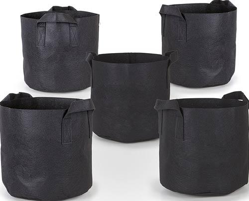 247Garden 5-Pack 7 Gallon Grow Bags