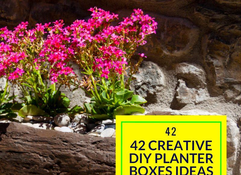42 Creative DIY Planter Boxes Ideas