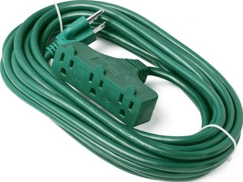 ClearMax 25 Feet 3 Outlet Heavy Duty Extension Cord Power Splitter