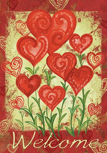 Toland - Garden Hearts - Decorative Valentine Day