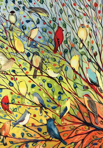 Toland - Tree Birds - Decorative Colorful Bright