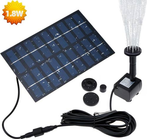 LATITOP 1.8W Solar Fountain Free Standing Floating