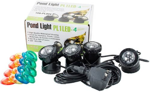 Jebao 4 LED Super Bright Underwater Fountain Lights