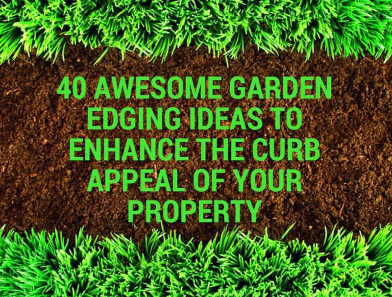 40 Awesome Garden Edging Ideas To
