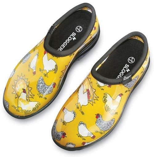 Yellow Chicken Sloggers Waterproof garden shoes